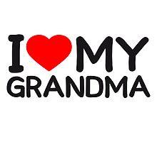 I Love my Grandma by Style-O-Mat