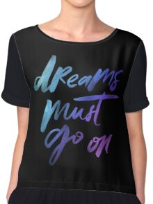 Dreams Must Go On - Holographic Foil Chiffon Top