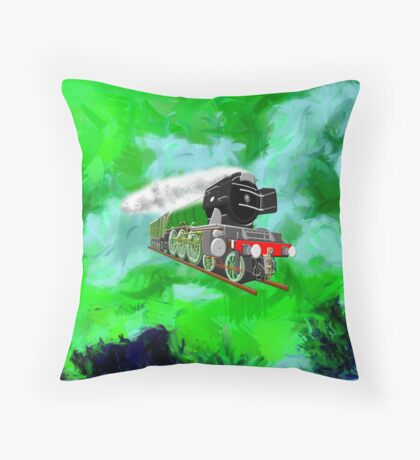 Flying Scotsman with Blinkers - pillow & tote Throw Pillow
