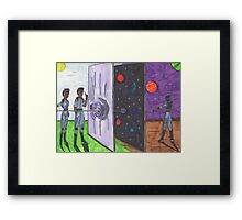 Science Team no need for a spaceship Framed Print