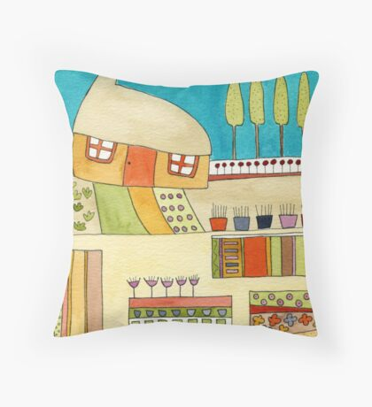 In my garden I dream Throw Pillow