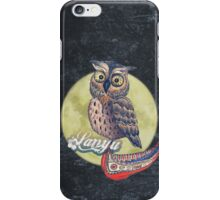 Lanyu Scops Owl with Traditional Canoe  iPhone Case/Skin