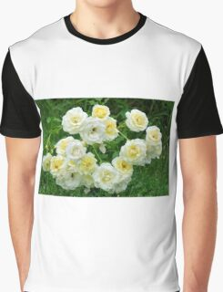 White roses in the garden. Graphic T-Shirt
