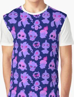 Ghost Pokemon Pattern Graphic T-Shirt