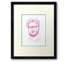 seth in pink Framed Print