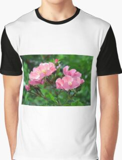Pink small flowers, natural background. Graphic T-Shirt