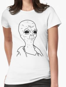 Bad Boy From Outer Space Womens Fitted T-Shirt