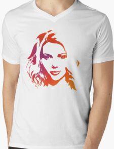 Cutout Series: 01 Scarlett Johansson Mens V-Neck T-Shirt