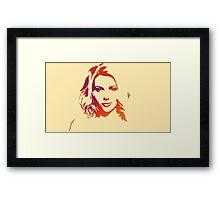 Cutout Series: 01 Scarlett Johansson Framed Print