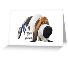 The secret life of pets - Pops Greeting Card