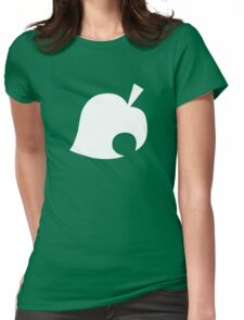 Animal Crossing Leaf Womens Fitted T-Shirt