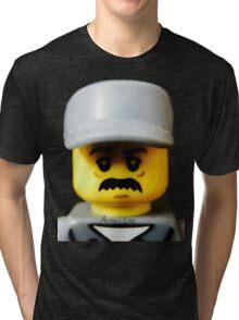 Lego Janitor minifigure Tri-blend T-Shirt