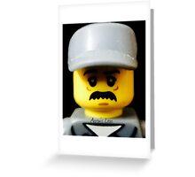 Lego Janitor minifigure Greeting Card