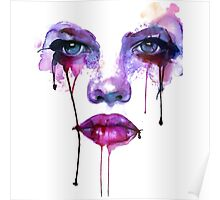 Abstract Face Up Purple Poster