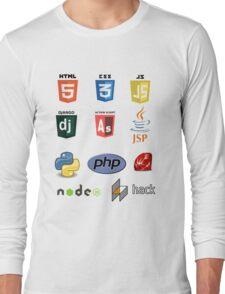 web developer programming language set Long Sleeve T-Shirt