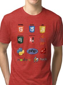 web developer programming language set Tri-blend T-Shirt