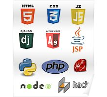 web developer programming lenguage set Poster