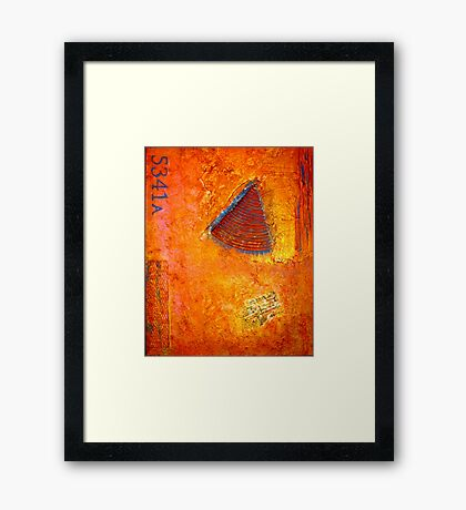 Contemporary Abstract Painting, Custom Made CARTE POSTALE Framed Print