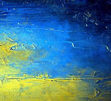 Abstract Yellow and Blue Diptych SIRIUS Holly Anderson Artist by hollyanderson