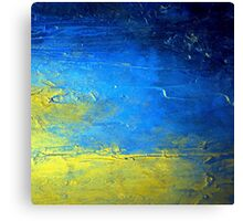 Abstract Yellow and Blue Diptych SIRIUS Holly Anderson Artist Canvas Print