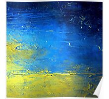 Abstract Yellow and Blue Diptych SIRIUS Holly Anderson Artist Poster