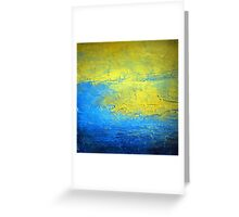 Contemporary Abstract Acrylic Diptych art set SIRIUS 2  Greeting Card