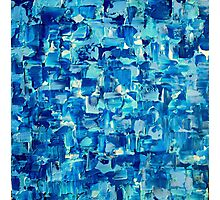 Abstract Knife Painting Impasto Style WATER & LIGHT Photographic Print