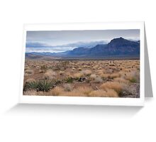 Blue Mountain Landscape in the Desert Southwest Greeting Card