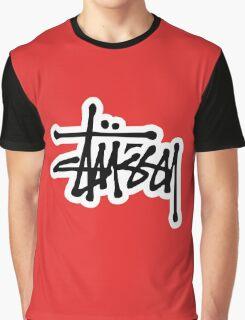 stussy #black Graphic T-Shirt