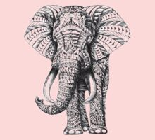 Elephant Abstract Art  One Piece - Short Sleeve