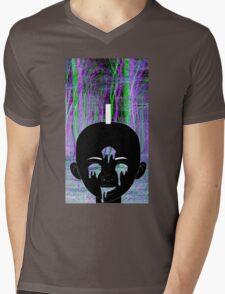Black Kirikou Mens V-Neck T-Shirt