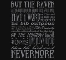Edgar Allan Poe RAVEN typography Kids Tee