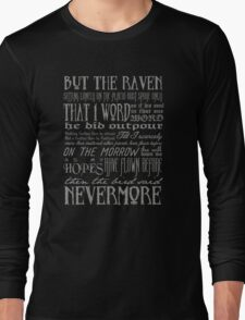 Edgar Allan Poe RAVEN typography Long Sleeve T-Shirt