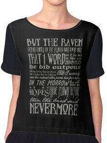 Edgar Allan Poe RAVEN typography Chiffon Top