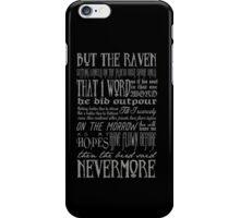 Edgar Allan Poe RAVEN typography iPhone Case/Skin