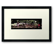 Horses & Children Framed Print