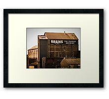 Brains Brewery, Cardiff, Wales Framed Print