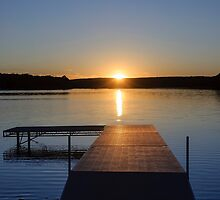 Sunset on Bear Creek Lake by Debra Fedchin