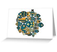 Colorful cute fish Greeting Card