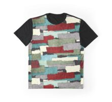 Colorful Patches Abstract Graphic T-Shirt