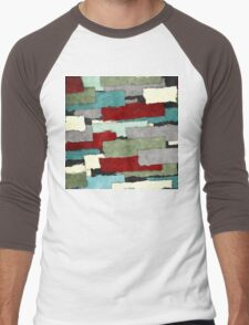 Colorful Patches Abstract Men's Baseball ¾ T-Shirt