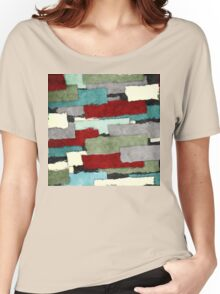 Colorful Patches Abstract Women's Relaxed Fit T-Shirt