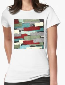 Colorful Patches Abstract Womens Fitted T-Shirt