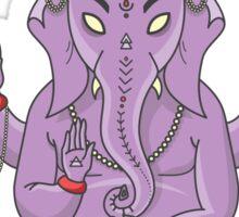 Ganesh (Purple) Sticker