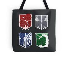Attack on Titan Emblems Tote Bag