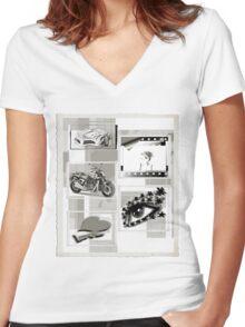 Retro Women's Fitted V-Neck T-Shirt