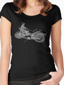 Urs' Harley (black) Women's Fitted Scoop T-Shirt