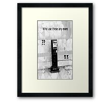 Telephone Love Framed Print