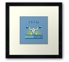 Team Sun Gym Framed Print