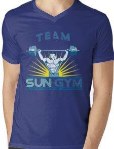 Team Sun Gym Mens V-Neck T-Shirt
